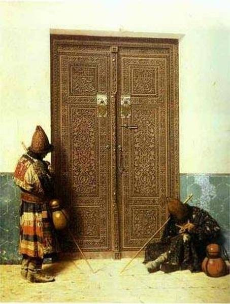 At the door of a mosque 1873 xx the russian museum st petersburg russia